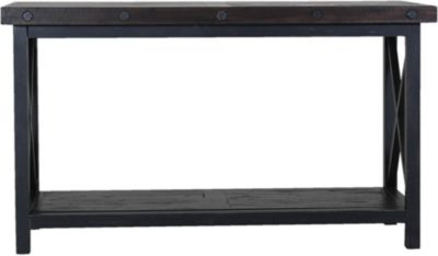Flexsteel Carpenter Dark Sofa Table