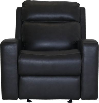 Flexsteel Cody Gray Leather Motion Glider Recliner