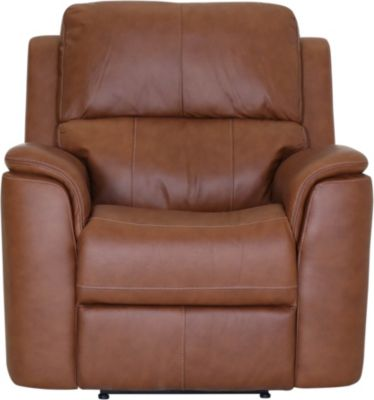 Flexsteel Henry Tan Leather Power Recliner