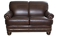 Flexsteel Bay Bridge 100% Leather Loveseat