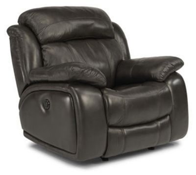 Flexsteel Como Leather Power Reclining Glider