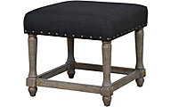Forty West Theodore Black Ottoman