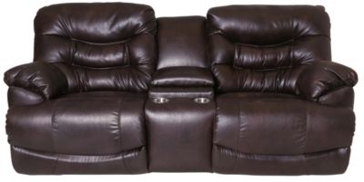Franklin Touchdown Power Recline Loveseat with Console