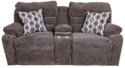 Franklin Tribute Console Loveseat Power Recline & Headrest