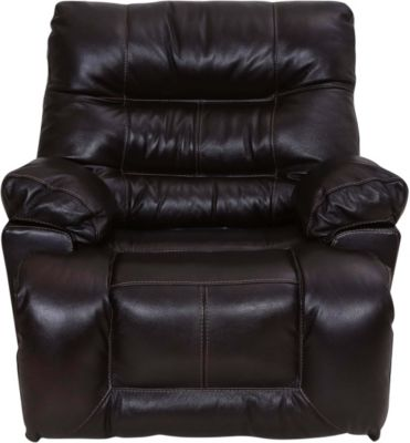 Franklin Boss Black Leather Power Rocker Recliner