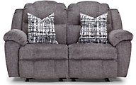 Franklin Victory Gray Rocking Reclining Loveseat