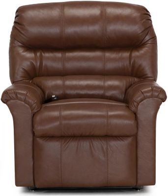 Franklin Hewett Brown Leather Lift Recliner