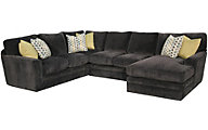 Fairmont Designs Palms Right-Side Chaise 3-Piece Gray Sectional