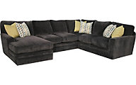 Fairmont Designs Palms Left-Side Chaise 3-Piece Gray Sectional