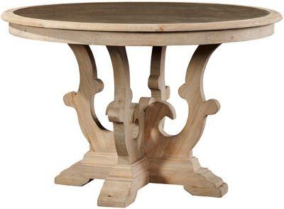 Furniture Classics Scrolled Pedestal Zinc Top Table