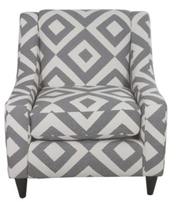 Fusion Square Charcoal Accent Chair