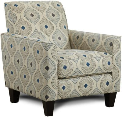 Fusion Electric Blue Accent Chair