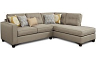 Fusion Maxwell Taupe 2-Piece Sectional