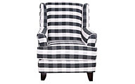 Fusion Popstitch Plaid Accent Chair