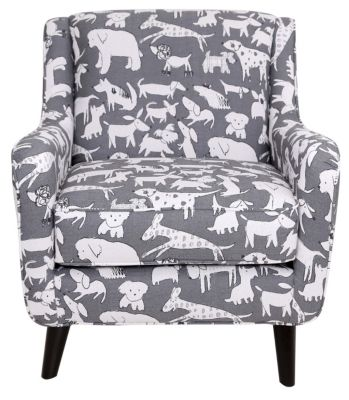 Fusion Popstitch Animal Print Accent Chair