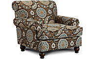 Fusion Anna White Accent Chair