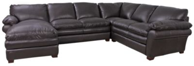 Futura 7439 Left-Side Chaise Leather 3-Piece Sectional