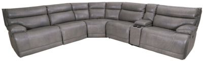 Futura Leather Power Recline 6-Piece Sectional