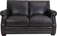 Futura 10030 Collection 100% Leather Gray Loveseat
