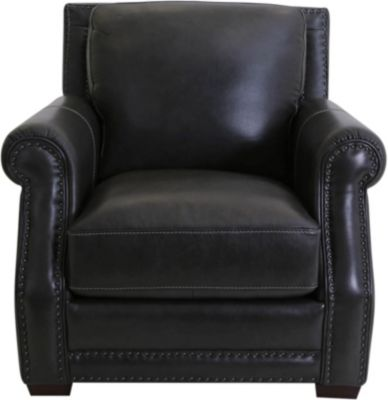 Futura 10030 Collection Grey 100% Leather Chair