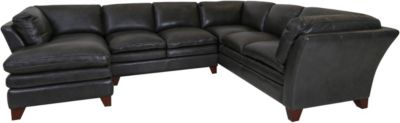 Futura 7203 Collection 100% Leather 3-Piece Sectional
