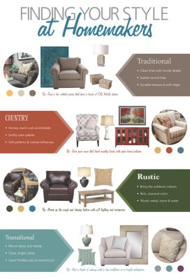 Discover furniture and home decorating ideas for traditional, country, rustic and transitional interior design styles!