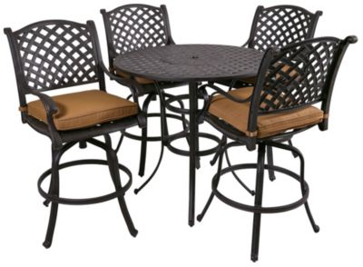Gather Craft Castle Rock 5 Piece Bar Height Outdoor Dining Set