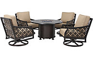 Gather Craft Manchester Outdoor Fire Pit & 4 Swivel Chairs