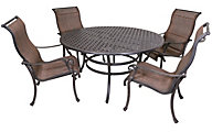 Gather Craft Castle Rock 5-Piece Sling Outdoor Dining Set