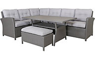 Gather Craft Fairmont Sectional With Table & Ottoman