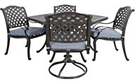 Gather Craft Macan Table, 2 Side Chairs and 2 Swivel Chairs
