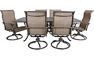 Gather Craft Macan Table and 6 Swivel Sling Chairs