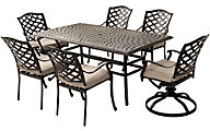 Gather Craft Halston Table, 4 Arm Chairs, 2 Swivel Chairs