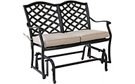 Gather Craft Halston Bench Glider with Cushion
