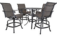 Gather Craft Macan Table with 4 Counter Stools