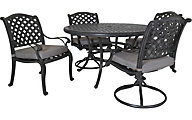 Gather Craft Macan Table with 4 Chairs