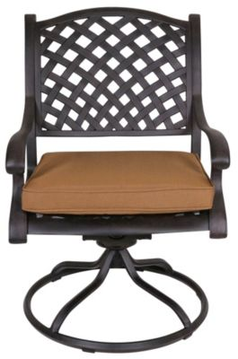Gather Craft Castle Rock Outdoor Swivel Dining Chair