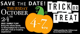 Homemakers Trick or Treat Event