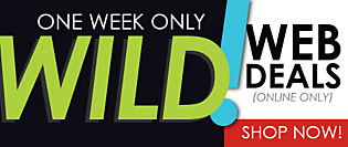 One Week ONLY! WILD WEB DEALS!