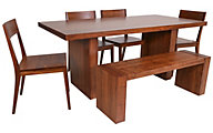 Greenington Nova Aurora Bamboo Table, 4 Chairs & 1 Bench