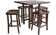 Greenington Tulip Bamboo Counter Table & 4 Stools