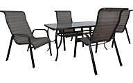 Red Line Creation 5-Piece 30X62 Inch Outdoor Dining Set