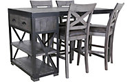 Global Home Group Warehouse Bar Table & 4 Stools