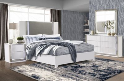Global Aspen 4-Piece White King Bedroom Set