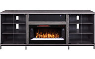 Greentouch Usa Fullerton Gray Media Fireplace