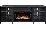 Greentouch Usa Fullerton Black Oak Media Fireplace
