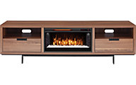 Greentouch Usa Wynwood Walnut Media Fireplace