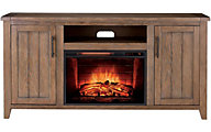 Greentouch Usa Redding Oak Media Fireplace