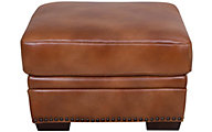 Gtr Leather 6369 Collection 100% Leather Ottoman