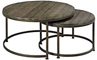 Hammary Furniture Leone Round Nesting Cocktail Table